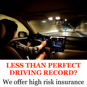 Less Than Perfect Driving Record? | We offer high risk insurance | Woman driving at night