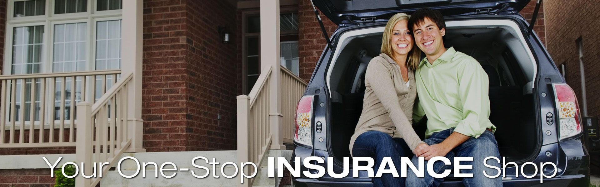 Your One-Stop Insurance Shop | Young couple with car in front of home